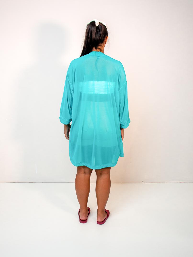 kimono fluor azul  - MUDI