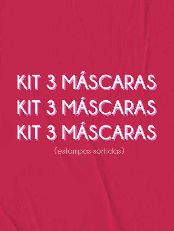 kit 3 máscaras  - MUDI
