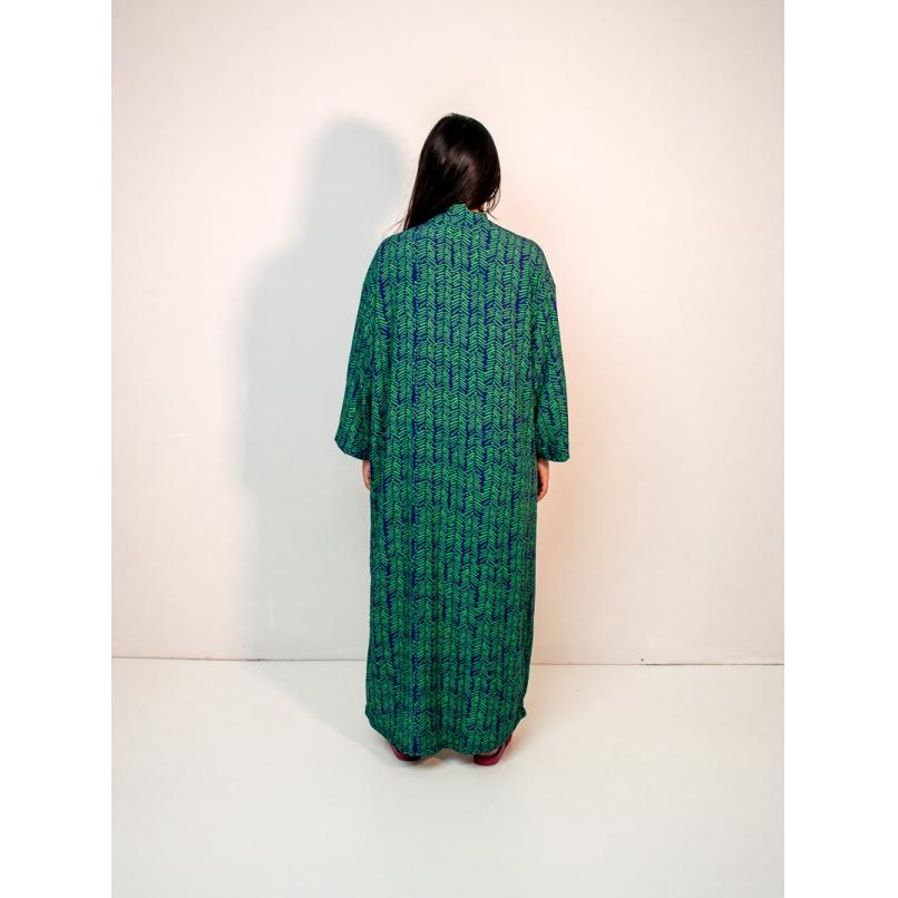 maxi kimono est. samambaia verde  - MUDI