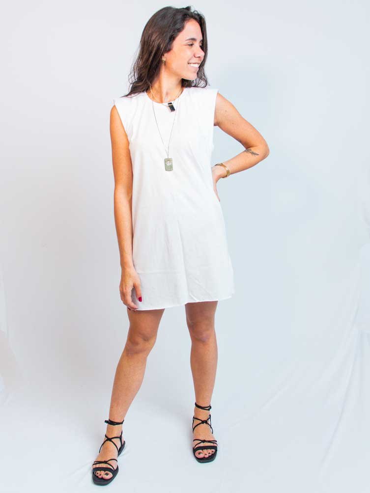 MUSCLE DRESS OFF WHITE