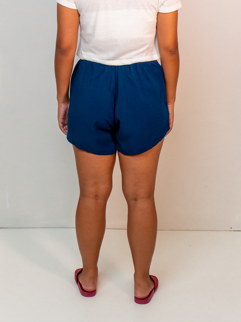 short becca liso azul  - MUDI