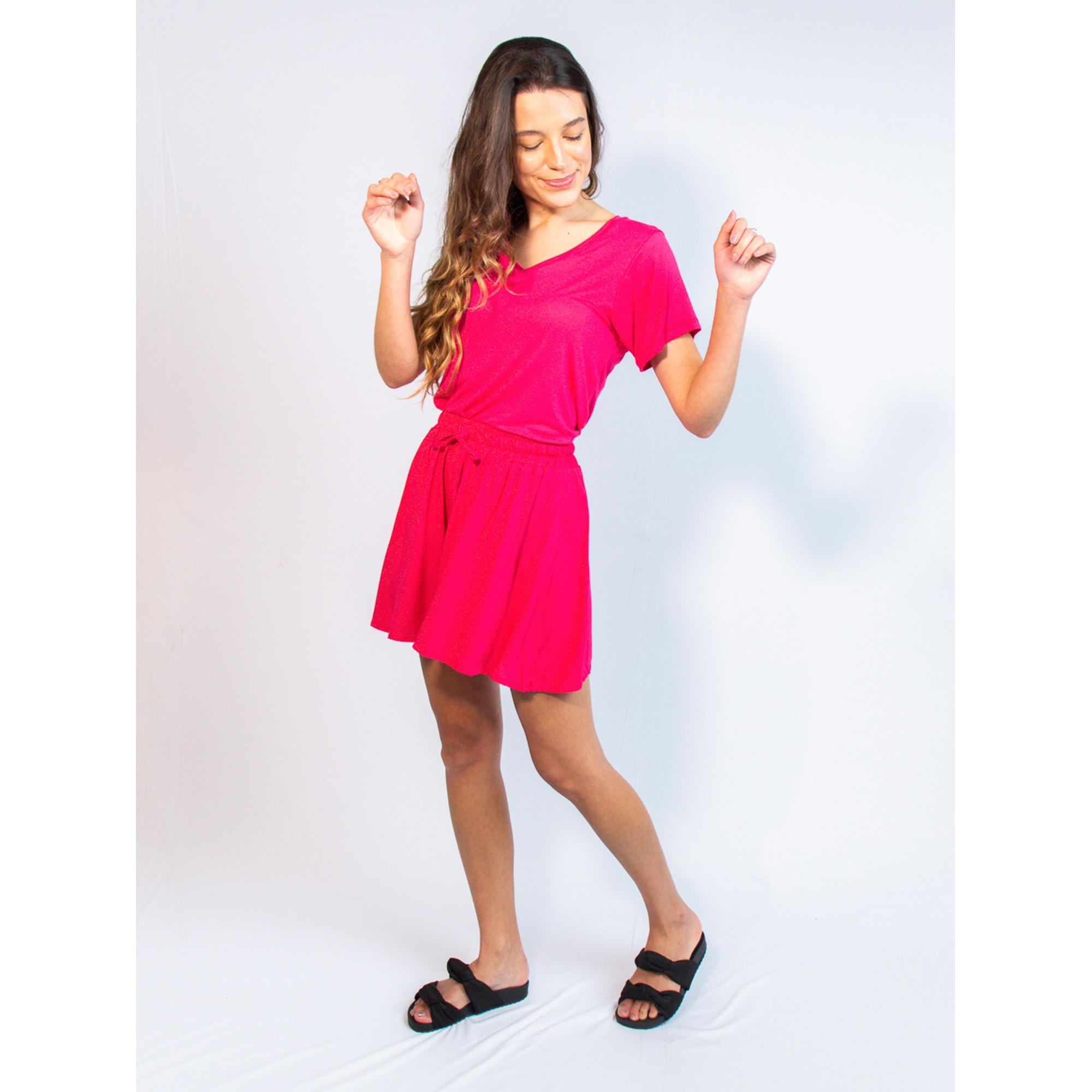 short louli liso rosa