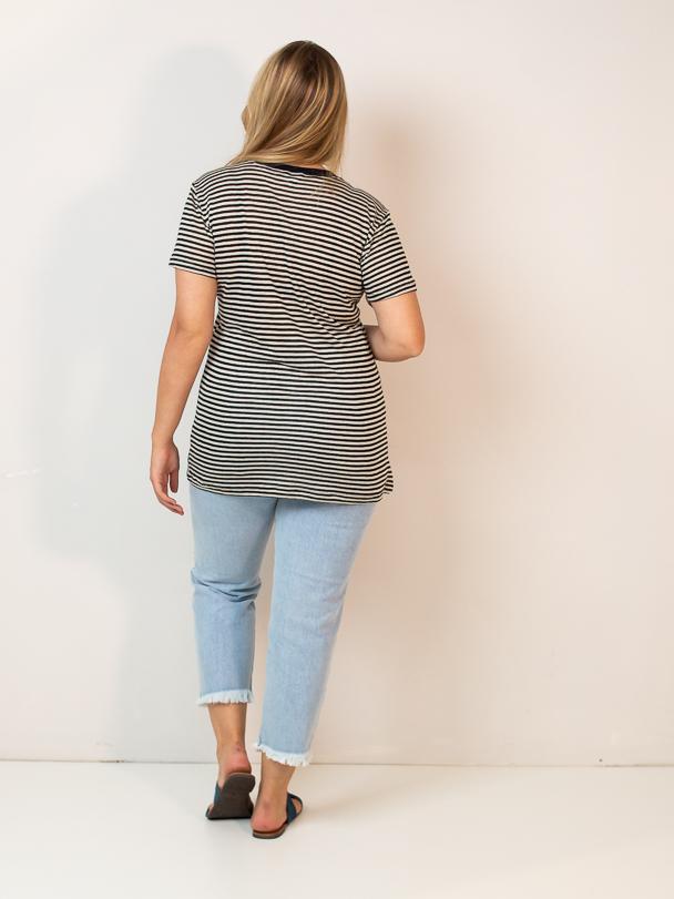 t-shirt listras  - MUDI