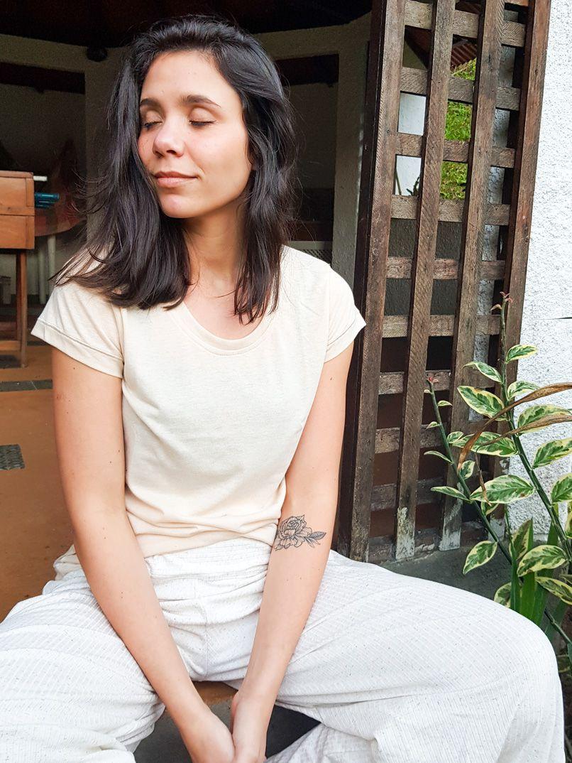 T-shirt Malha Eco - Areia