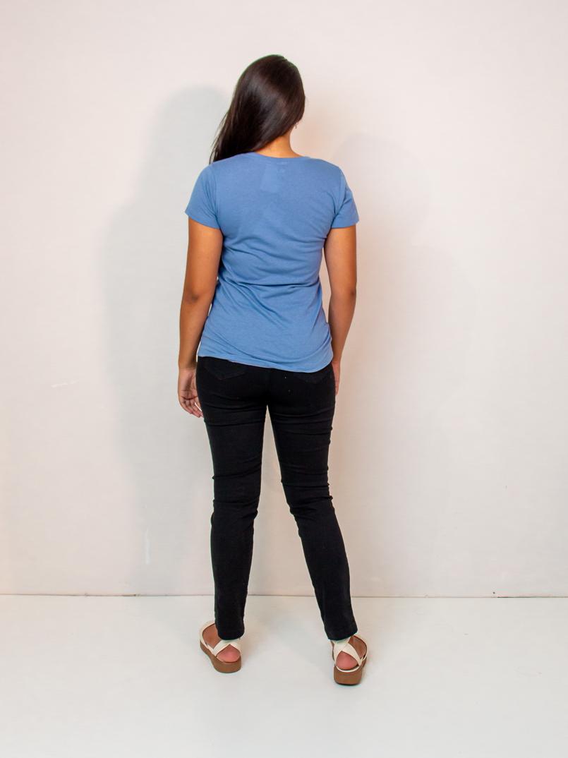 t-shirt malha eco -azul  - MUDI
