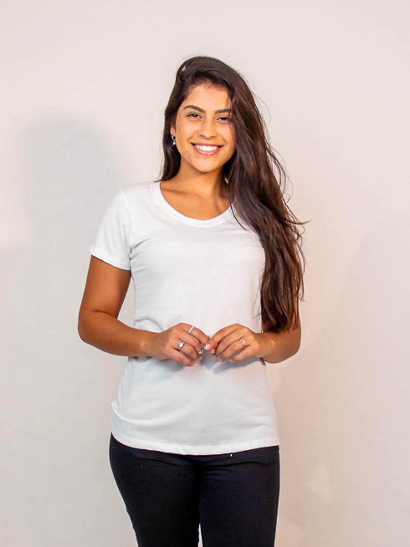 t-shirt malha eco - branca