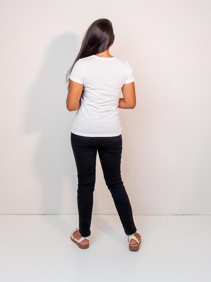 t-shirt malha eco - branca  - MUDI