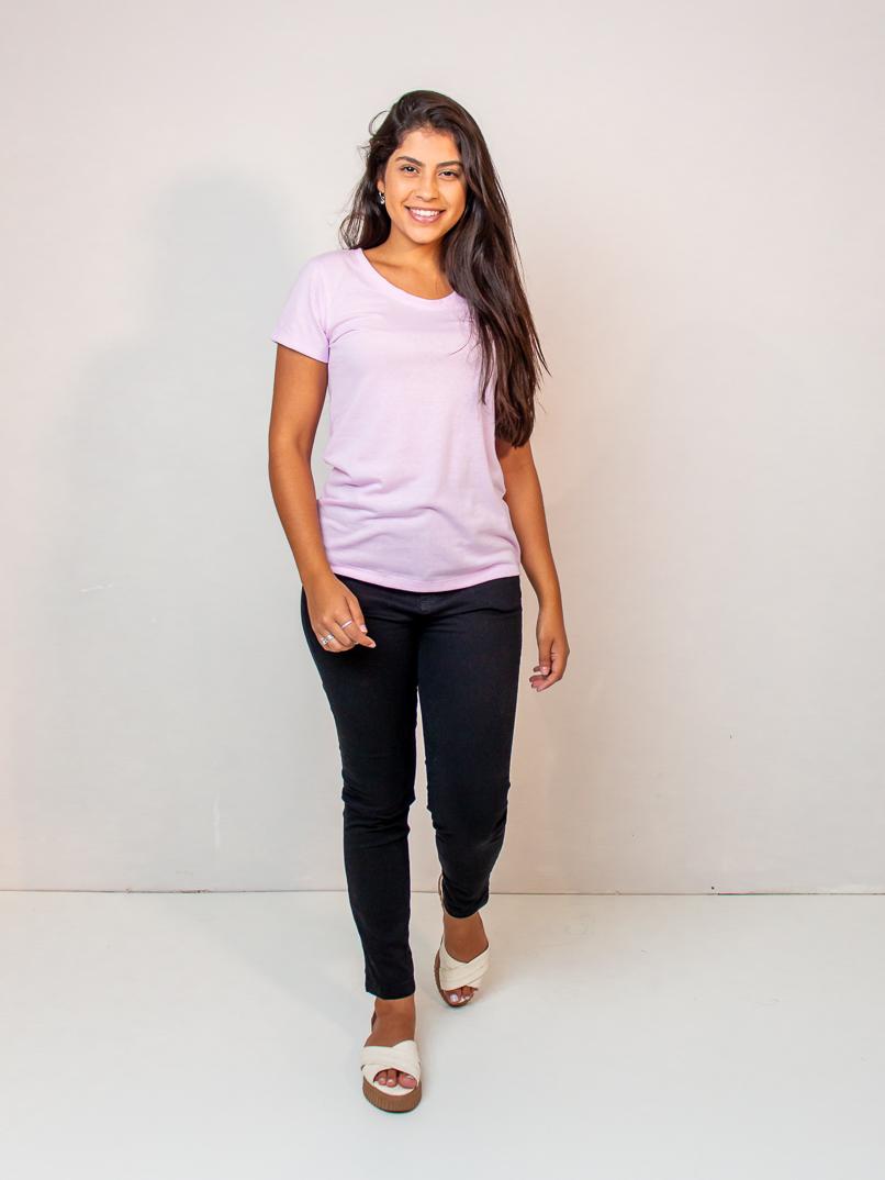 t-shirt malha eco - lilás  - MUDI