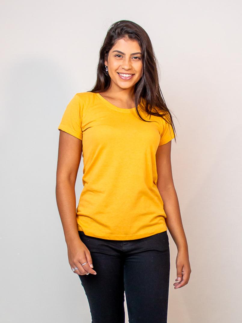 T-shirt Malha Eco - Mostarda  - MUDI