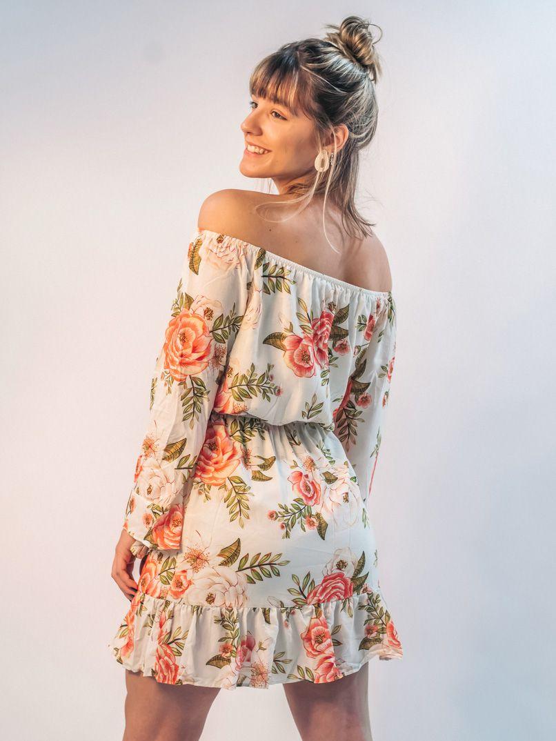 vestido curto est. lisbela - off white