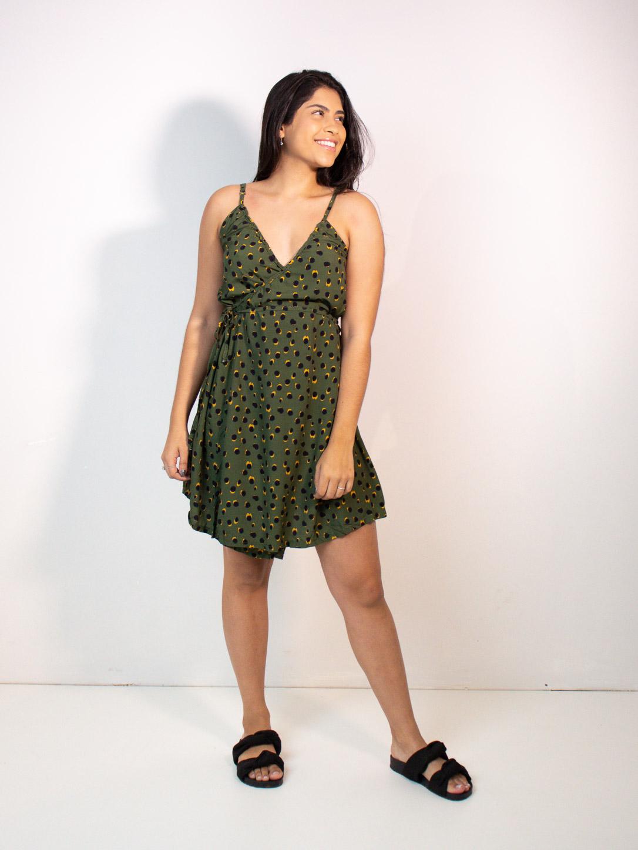 vestido envelope curto est. poá amazônia