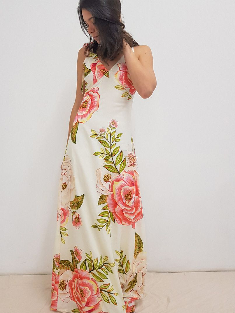 vestido longo est. lisbela - off white