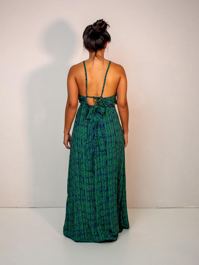 vestido longo est. samambaia verde  - MUDI