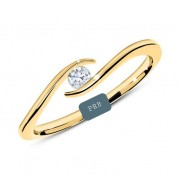 Anel de noivado em ouro 18k  com 0,05 pontos de diamantes - CÓDIGO L271A