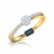 Anel de noivado em ouro 18k  com 14 pontos de diamantes - CÓDIGO L871A
