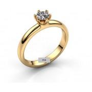 Anel de noivado em ouro 18k  com 1 diamante de 40 pontos - CÓDIGO 7114