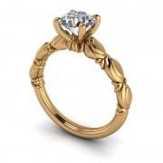 Anel de noivado em ouro 18k  com 1 diamante de 40 pontos - CÓDIGO 90114