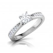 Anel de noivado em ouro 18k  com 44 pontos de diamantes - CÓDIGO 23031