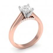 Anel de noivado em ouro 18k  com 51 pontos de diamantes- CÓDIGO 80114