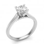Anel de noivado em ouro 18k  com 51 pontos de diamantes- CÓDIGO 90114
