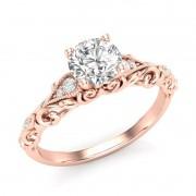 Anel de noivado em ouro 18k  com 78 pontos de diamantes - CÓDIGO 060A