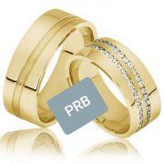 Par de alianças  em ouro 18k e diamantes - CÓDIGO - AL21