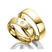 Par de alianças  em ouro 18k e diamantes - CÓDIGO - ALI31