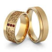 Par de alianças  em ouro 18k e diamantes - CÓDIGO - ALI9
