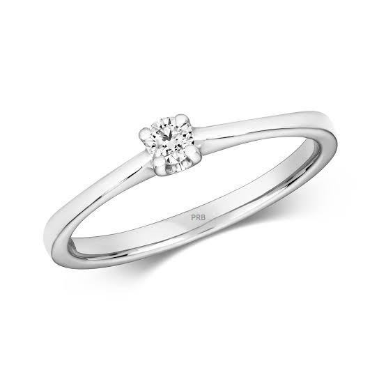 Anel de noivado em ouro 18k  com 0,05 pontos de diamantes - CÓDIGO L261A