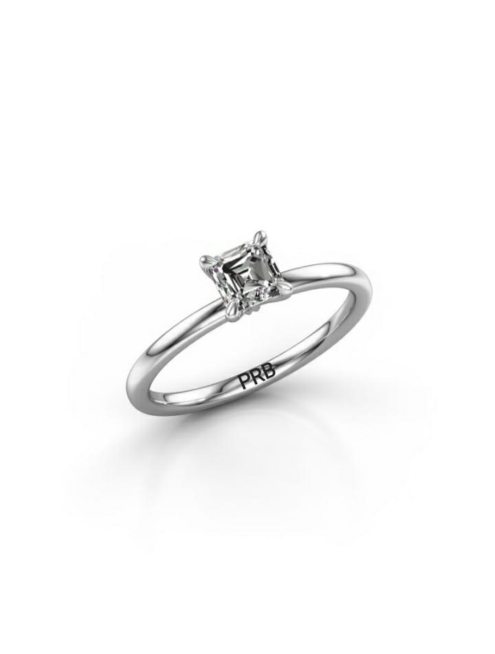 Anel de noivado em ouro 18k  com 10 pontos de diamantes - CÓDIGO 0160A