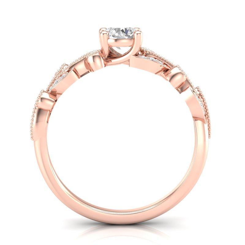 Anel de noivado em ouro 18k  com 110 pontos de diamantes - CÓDIGO 080A