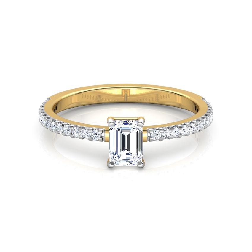 Anel de noivado em ouro 18k  com 110 pontos de diamantes - CÓDIGO 2051A