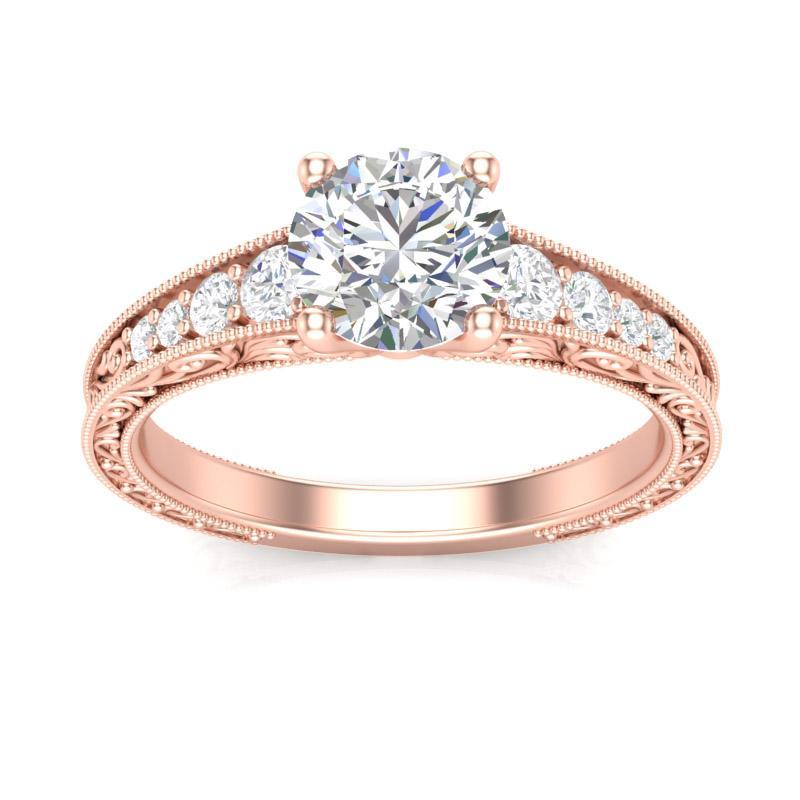 Anel de noivado em ouro 18k  com 115 pontos de diamantes - CÓDIGO 0199A