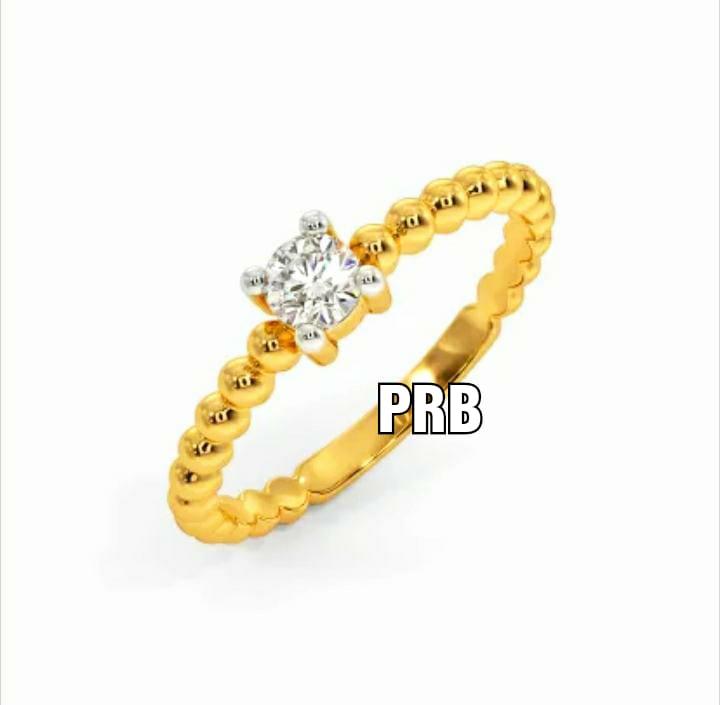 Anel de noivado em ouro 18k  com 1 diamante de 25 pontos - CÓDIGO 041