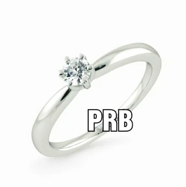 Anel de noivado em ouro 18k  com 1 diamante de 25 pontos - CÓDIGO 042