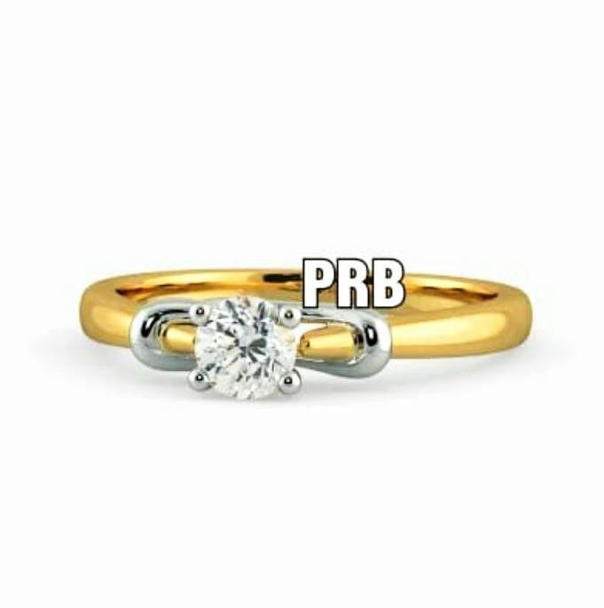 Anel de noivado em ouro 18k  com 1 diamante de 30 pontos - CÓDIGO 027