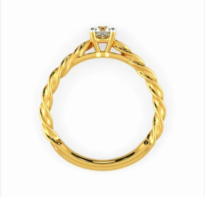 Anel de noivado em ouro 18k  com 1 diamante de 30 pontos - CÓDIGO 038