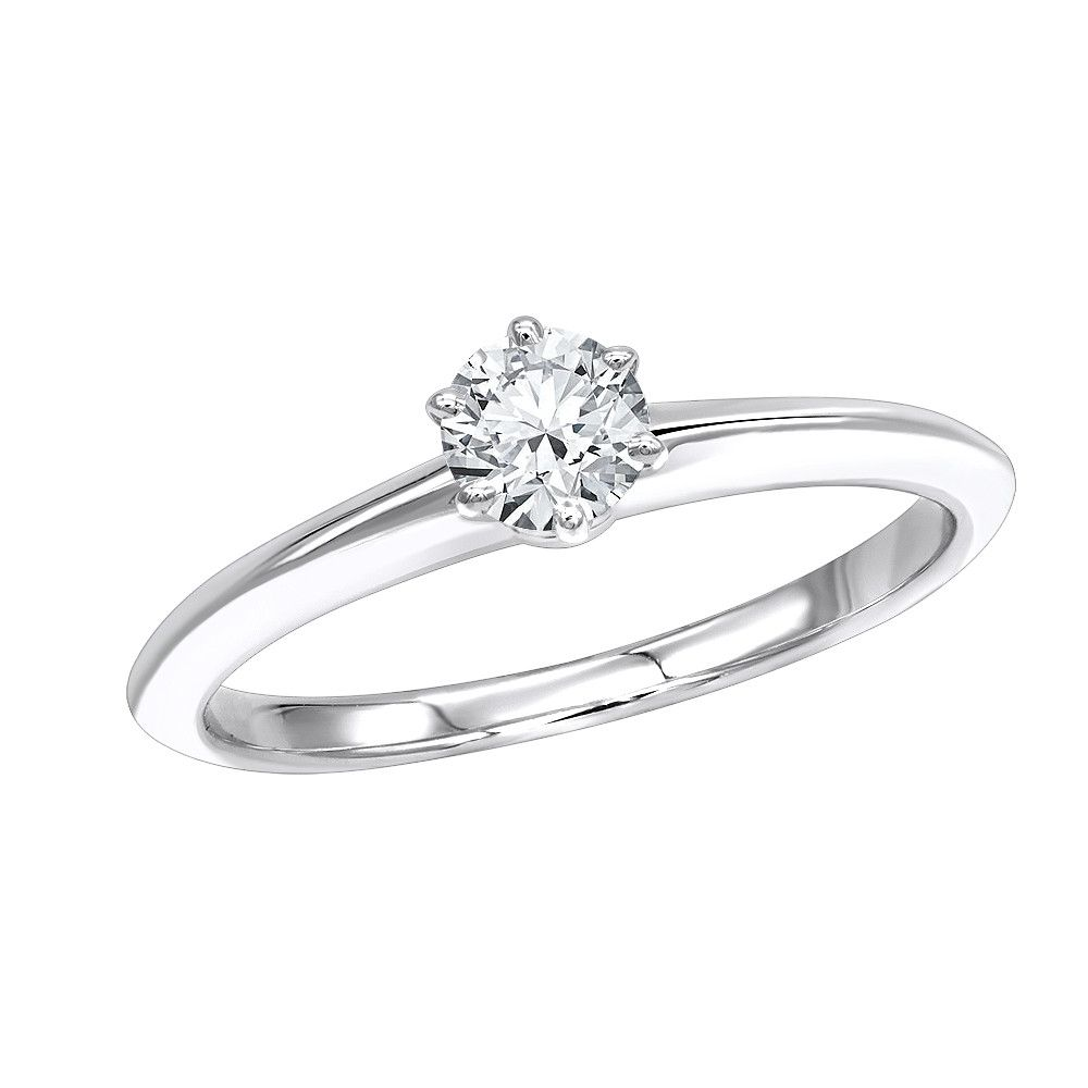 Anel de noivado em ouro 18k  com 1 diamante de 40 pontos - CÓDIGO 021A