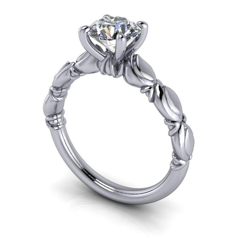 Anel de noivado em ouro 18k  com 1 diamante de 40 pontos - CÓDIGO 40114
