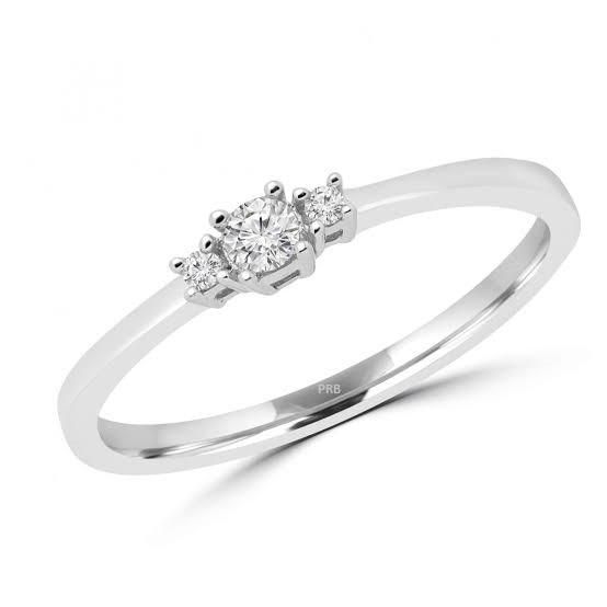 Anel de noivado em ouro 18k  com 20 pontos de diamantes - CÓDIGO 0145A