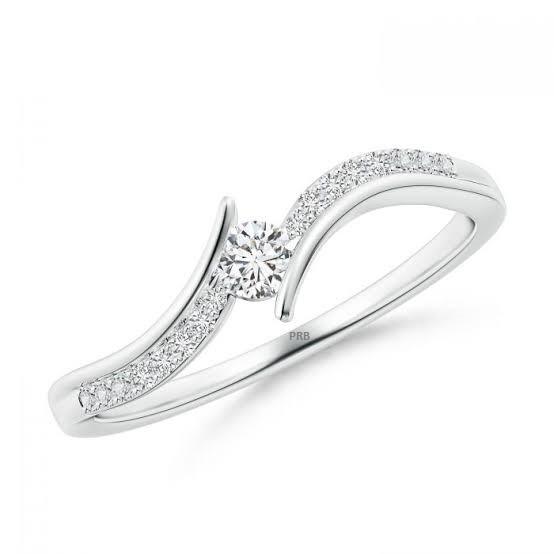 Anel de noivado em ouro 18k  com 21 pontos de diamantes - CÓDIGO L1614A