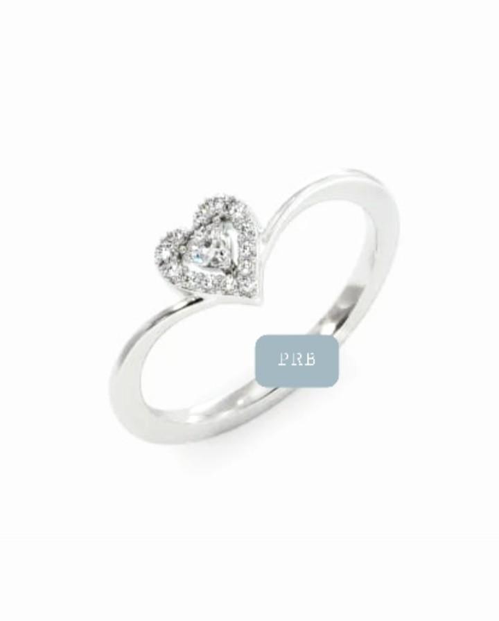 Anel de noivado em ouro 18k  com 22 pontos de diamantes - CÓDIGO 094A
