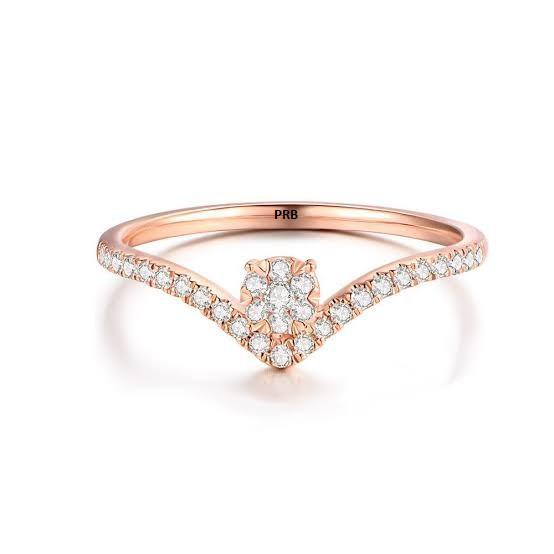 Anel de noivado  em ouro 18k  com 30 pontos de diamantes - CÓDIGO 0353A
