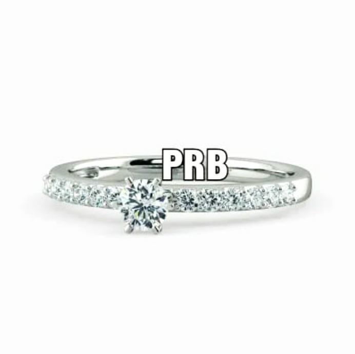 Anel de noivado em ouro 18k  com 32 pontos de diamantes - CÓDIGO 036