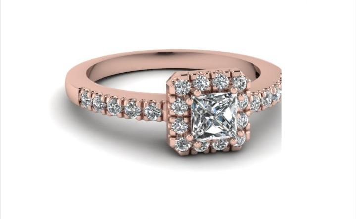 Anel de noivado em ouro 18k  com 37 pontos de diamantes -  CÓDIGO 404