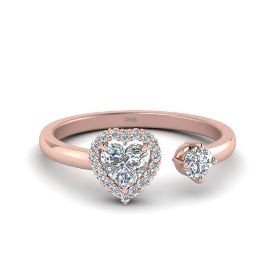 Anel de noivado em ouro 18k  com 40 pontos de diamantes - CÓDIGO 93031