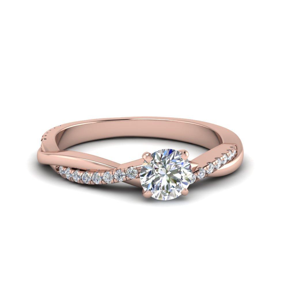 Anel de noivado em ouro 18k  com 46 pontos de diamantes - CÓDIGO 0370