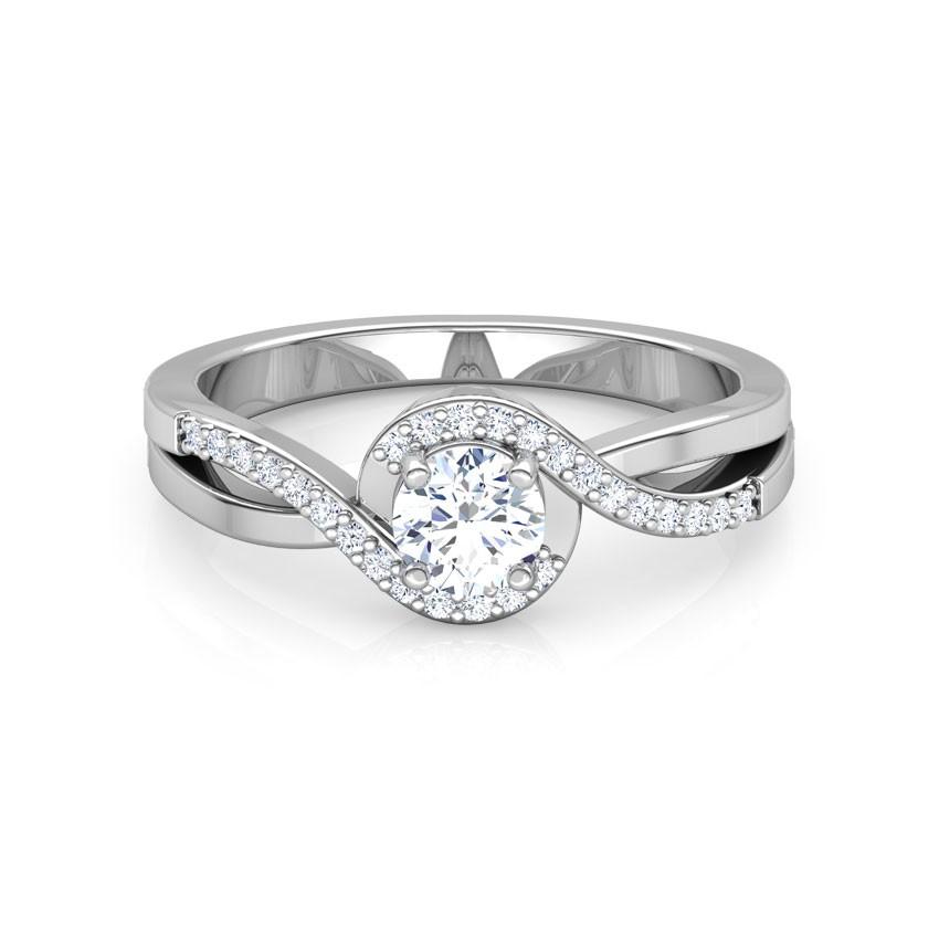 Anel de noivado em ouro 18k  com 46 pontos de diamantes - CÓDIGO 2031