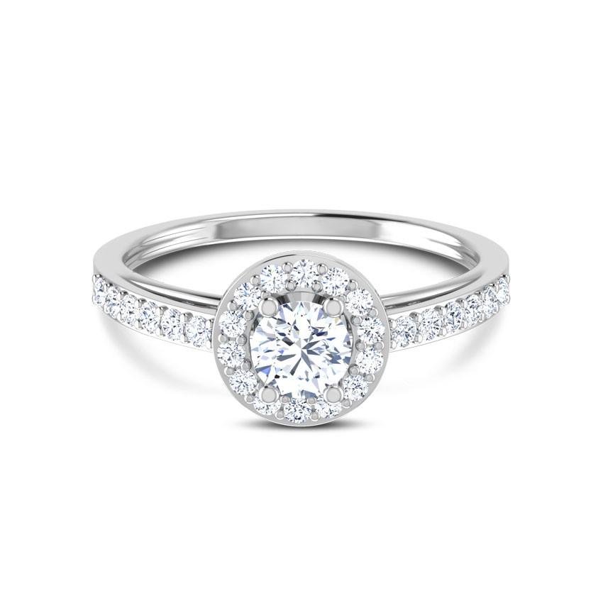 Anel de noivado em ouro 18k  com 46 pontos de diamantes - CÓDIGO 9031