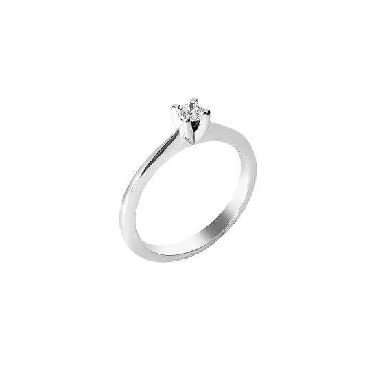 Anel de noivado em ouro 18k  com 0,05 pontos de diamantes - CÓDIGO L161A